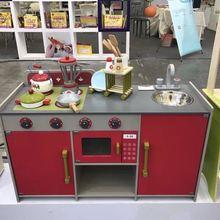 Детская кухонная посуда унисекс, кухонные приборы, модель не играющего дома, газовая плита из дерева унисекс