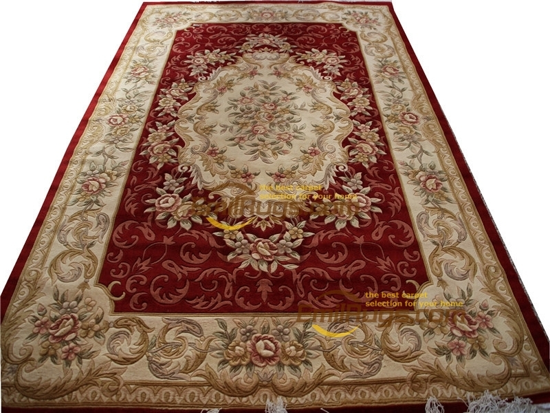 machine washable carpet Hand Made French Aubusson Weave Rug Wool  Design  Reversible Round Carpet Knitted