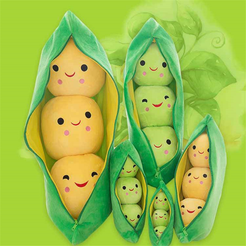 90cm Kids Baby Plush Toy Cute Pea Pillow Stuffed Plant Doll For Children Gift High Quality Pea-shaped Pillow Toy
