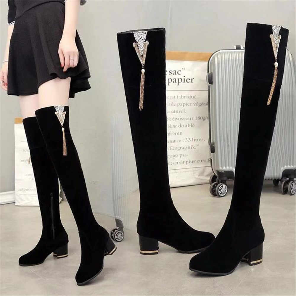 Details about  /Woman Plus Size Cosplay Platform Shoes Boots Women Over The Knee Boots