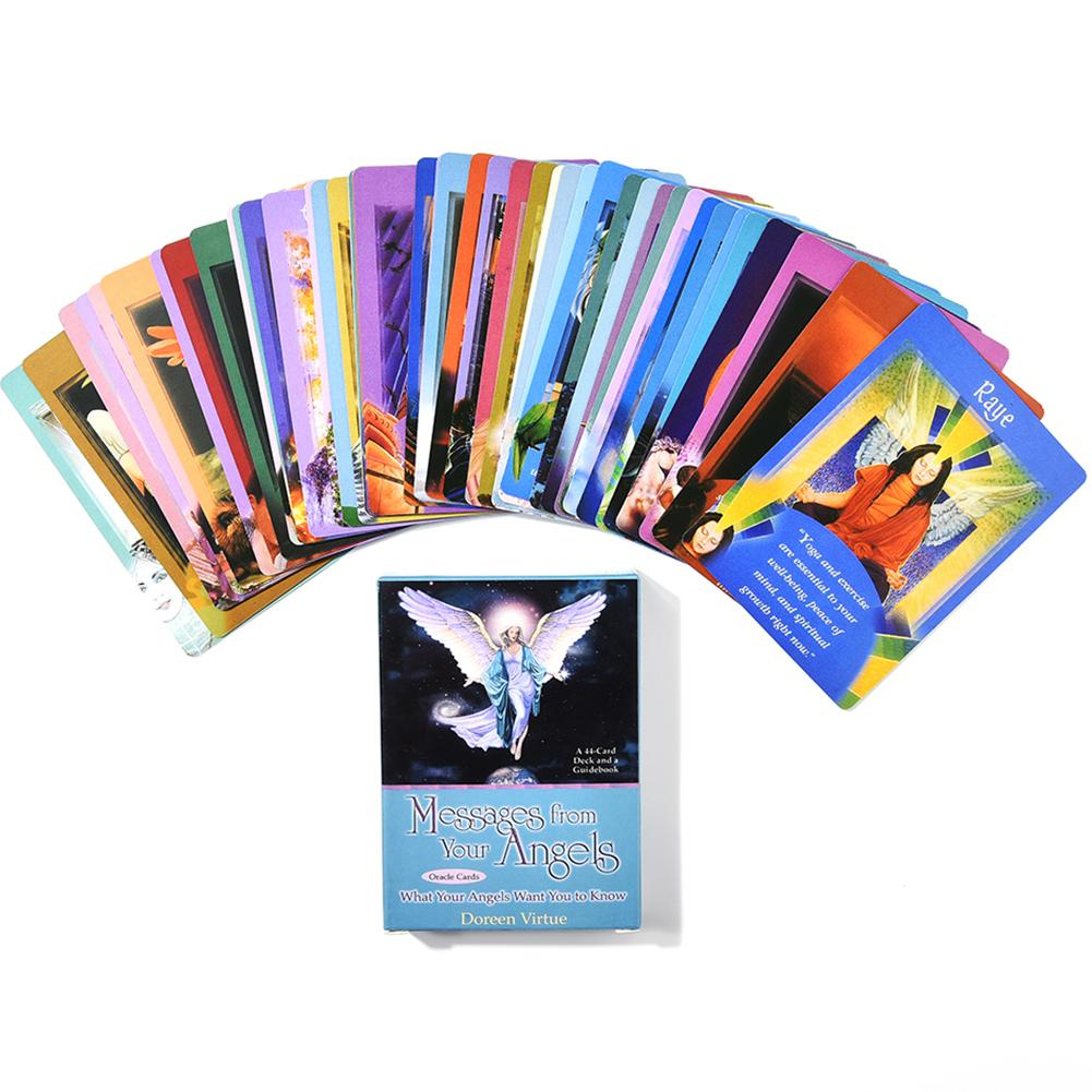 44 Sheets Tarot Cards Messages From Your Angels What Your Angels Cards Deck For Children And Parents Party Games image