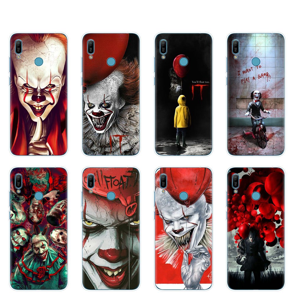 silicon phone <font><b>cover</b></font> <font><b>case</b></font> for <font><b>huawei</b></font> Y5 Y6 <font><b>Y7</b></font> Y9 PRO PRIME <font><b>2019</b></font> honor 8s 8a 20 LITE PRO 10i view 20 V20 <font><b>coque</b></font> The Clown Horror IT image