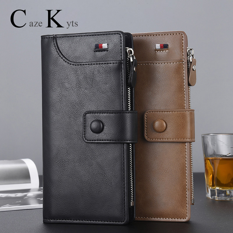 2019 Long And High Quality Zipper Wallet Men's Long Wallet European And American Fashion Classic Multi-function  Hand Purse Gift