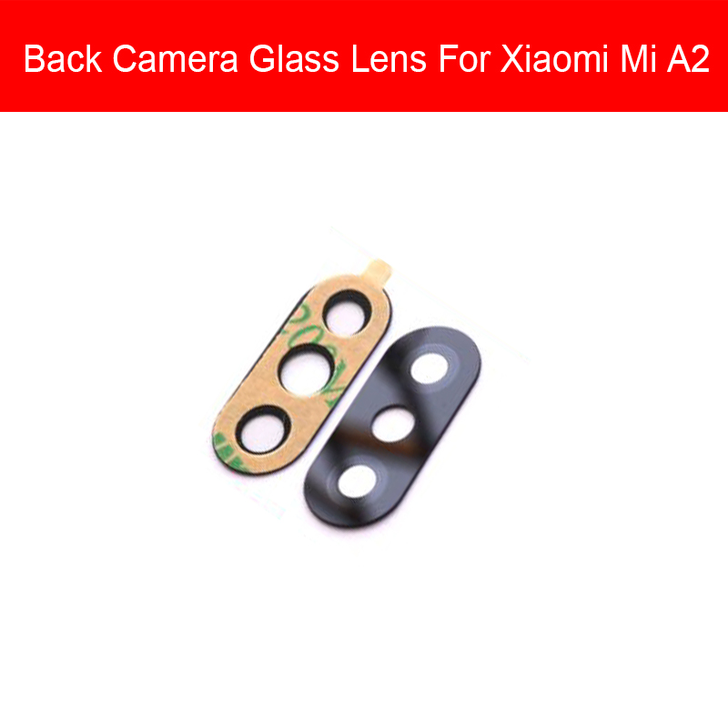 Mian Big Rear Camera Glass Lens Cover For Xioami Mi A2 6X Back Camera Glass Lens Cover Replacement Repair Parts High Qulity