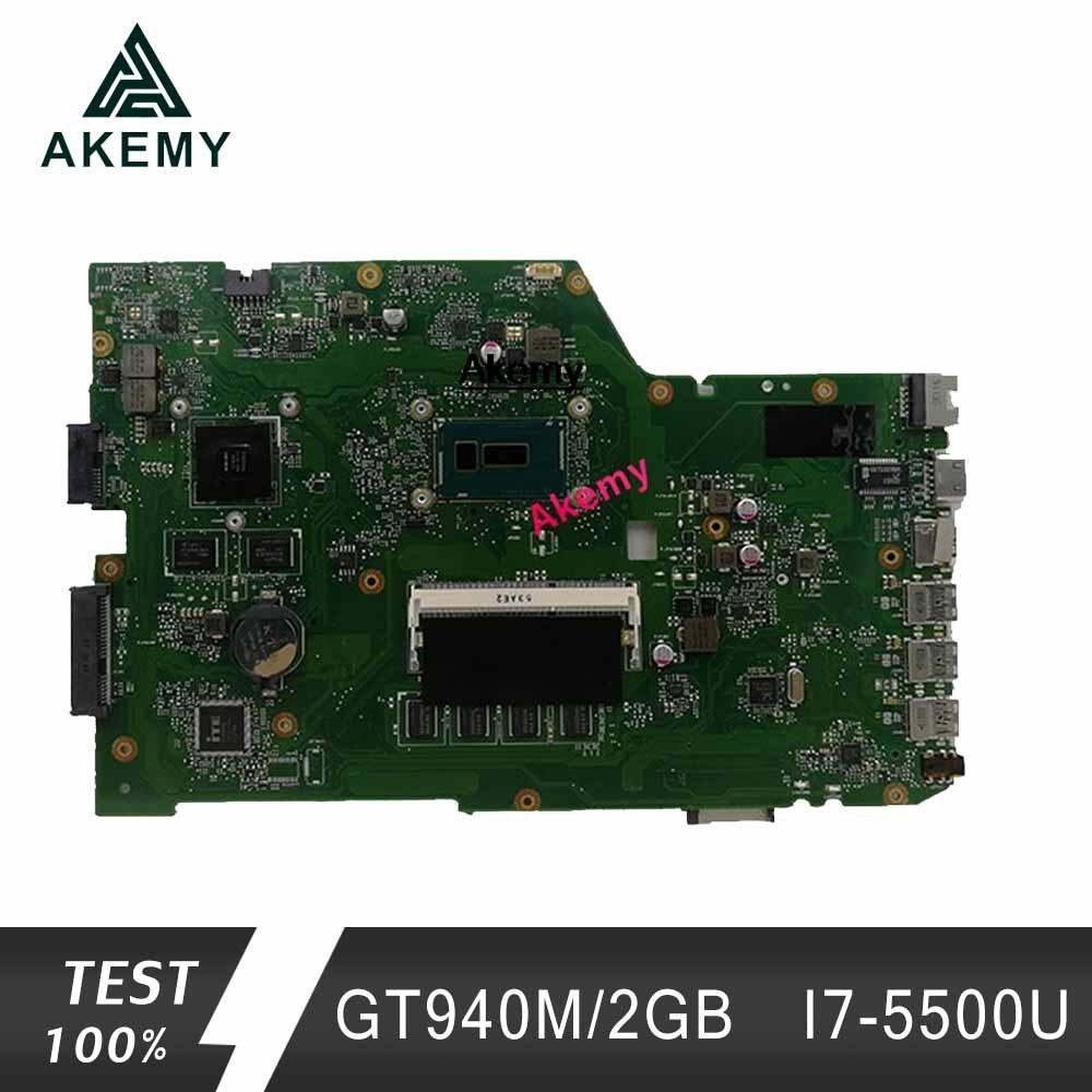 Akem X751LB GT940M/2GB Mainboard For ASUS X751L R752L K751L X751LN X751LD X751LJ X751LB DDR3 Laptop Motherboard 4GB RAM I7-5500U