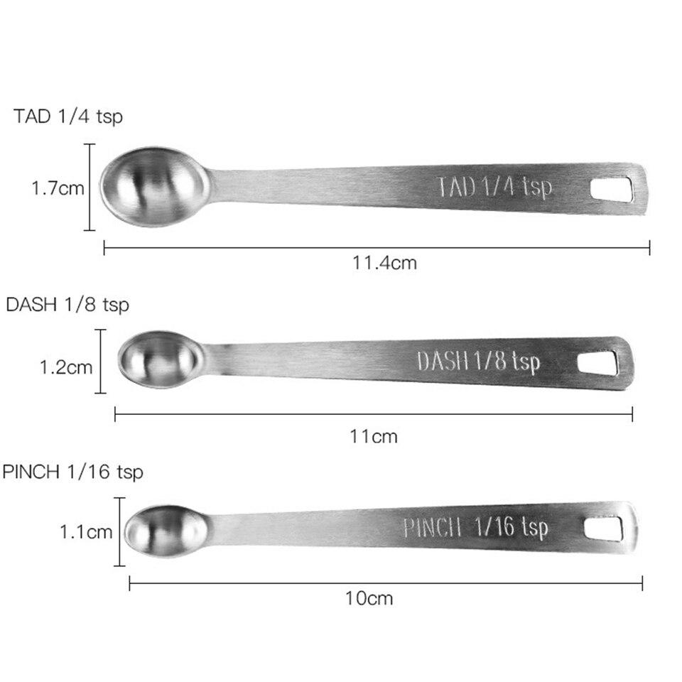 5PCS Set Stainless Steel Mini Measuring Spoons For Baking Seasoning Kitchen Tool