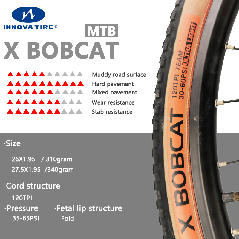 Ultralight 26*1.95 27.5*1.95 29*1.95 pneus de bicicleta mtb 120 tpi mountain bike pneu de bicicleta 26 polegadas pneus de ciclismo innova bobcat