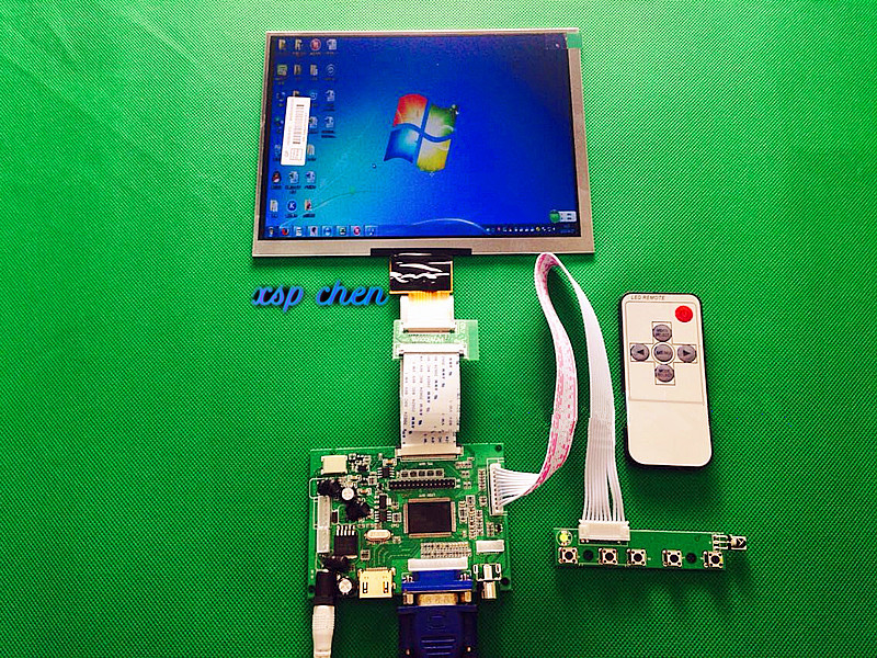 Free Shipping HDMI / VGA / AV Control Driver Board + 8-inch HE080IA-01D 1024 * 768 IPS HD LCD Display for Orange Raspberry Pi