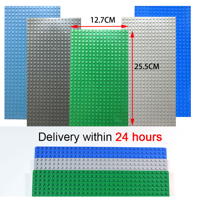 Kazi Classic Base Plates Plastic Bricks Baseplates Compatible All Brands dimensions Building Blocks Construction Toys 16*32 Dots image