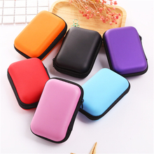1Pc Storage Box Carryable Zip Lock Headphones Data Line Money Organizer Red Purple Black Pink Blue Orange Makeup