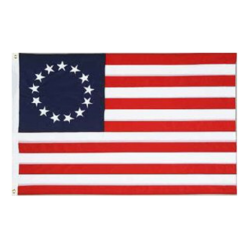Betsy Ross 13 Star USA American <font><b>Flag</b></font> <font><b>90x150cm</b></font> Nylon <font><b>Flag</b></font> With Brass Grommets 3 Ft X 5 Ft Embroidered <font><b>Flag</b></font> Home Decoration image