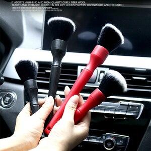 Image 5 - 超ソフト車ディテールブラシスーパーソフト自動インテリアディテールブラシ合成イノシシのため車の座席革クリーニング