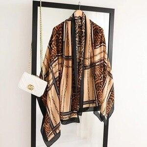 Image 5 - Luksusowa marka zimowy szalik, lampart szalik kobiety, miękkie pashminy, szale i chusty, Sjaal muzułmański hidżab, nadruk zwierzęta lampardo, peleryna 4.