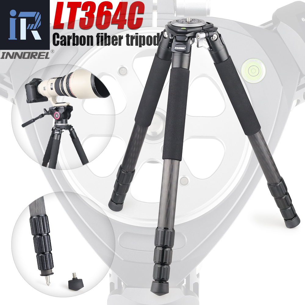LT364C Professional Heavy Duty Camera Tripod Ultra Stable Top-Level Birdwatching Camera Stand 36mm Leg Tube Max Load 77lb/35kg
