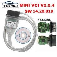 MINI VCI Firmware V2.0.4 Latest Version V14.20.019 For Toyota j2534 K+DCAN Supports Multi Language FTDI FT232RL Chip
