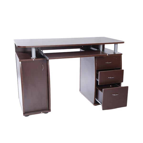 15mm MDF Portable 1pc Door With 3pcs Drawers Computer Desk Coffee Made Of High Quality Material, Durable And Sturdy In Use