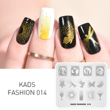 KADS Fashion0 014 Nail Art Stamping Plates Manicure Template Image Stamp Plate Print Stencil Tool Hot sale