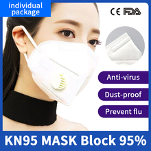 10PCS CE&FDA N95 Mask Protective Face Mask 6 Layers Filter KN95 Mask 95% filtration Mouth Cover Dust Masks Fast Shipping