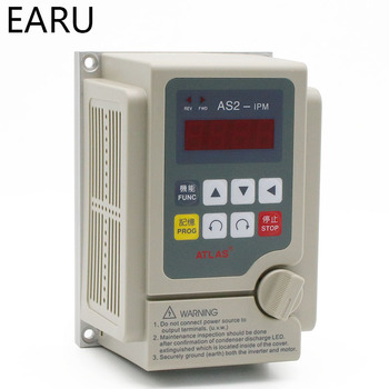 VFD Inverter 0.4KW 0.75KW  Frequency Converter 220V/380V 3P Output CNC Spindle Motor Speed Control Controller Machine Converter