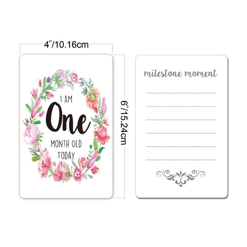 Baby Milestone Photo Cards Unisex Moment Landmark Cards Age Markers & Unique Firsts Baby Shower Gift Set