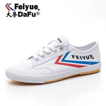 Dafufeiyue oryginalne trampki klasyczne buty sztuki walki Taichi Taekwondo Wushu Kungfu buty damskie tanie i dobre opinie Unisex CN (pochodzenie) RUBBER Sznurowane Dobrze pasuje do rozmiaru wybierz swój normalny rozmiar Spring2016 PŁÓTNO