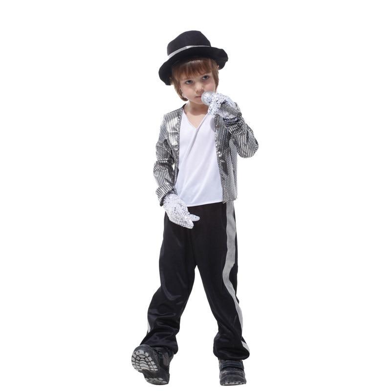 Fashion Hot Sale Kids Boys Michael Jackson Cosplay Costume Children's Day Birthday Halloween Party Performance Fancy Dress New