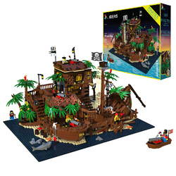 21322 Pirates von Barracuda Bay 698998 49016 Pirate Thema Serie Ideen 3520PCS Modell Bausteine Ziegel Lepining Spielzeug