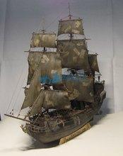 1/96 ölçekli karayip korsanları siyah İnci simülasyon ahşap yelkenli DIY tekne model seti el yapımı yetişkin oyuncak hediye ev dekor