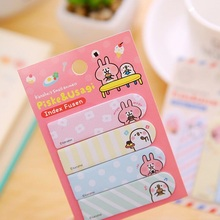 цена на 1pack/Lot Cute Rabbit Eat Food Finger Memo Pad Sticky Notes Memo notepad Stationery Papelaria Escolar School Stationery Supplies