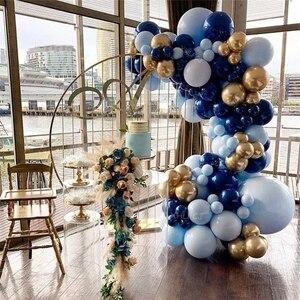 115 шт. большой синий воздушный шар макарон, гирлянда, арочный комплект, ночник, голубое золото, украшение для ребенка на первый день рождения,...