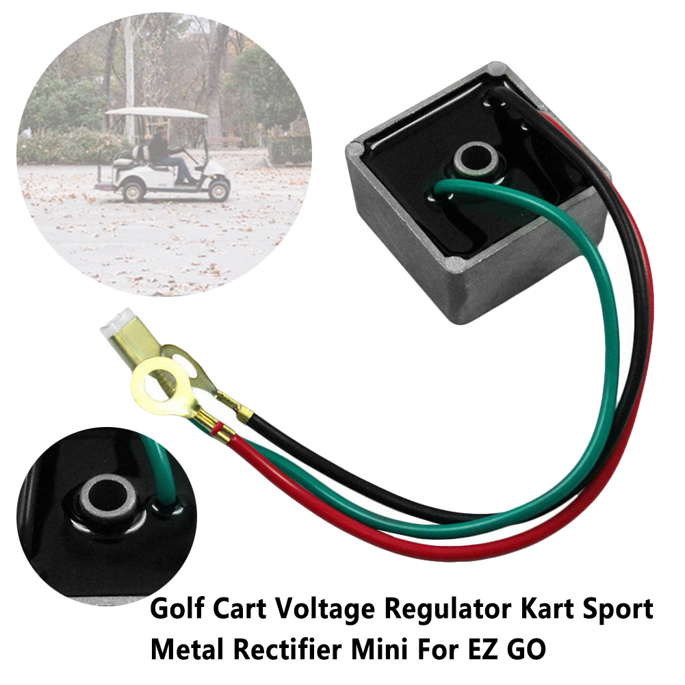27739G01 Kart Golf Cart Voltage Regulator Club Car Replacement Practical Mini Single Hole Metal Rectifier Accessories For EZ GO