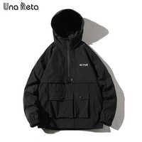 Una Reta Hip Hop veste manteau hommes à capuche coupe-vent veste automne nouveau décontracté Harajuku veste à capuche ample manteaux Streetwear homme