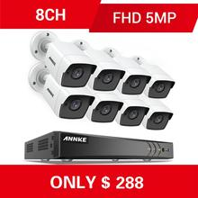 ANNKE 8CH 5MP Ultra HD CCTV Camera System 5IN1 H.265+ DVR With 8PCS TVI Weatherproof White Security Surveillance