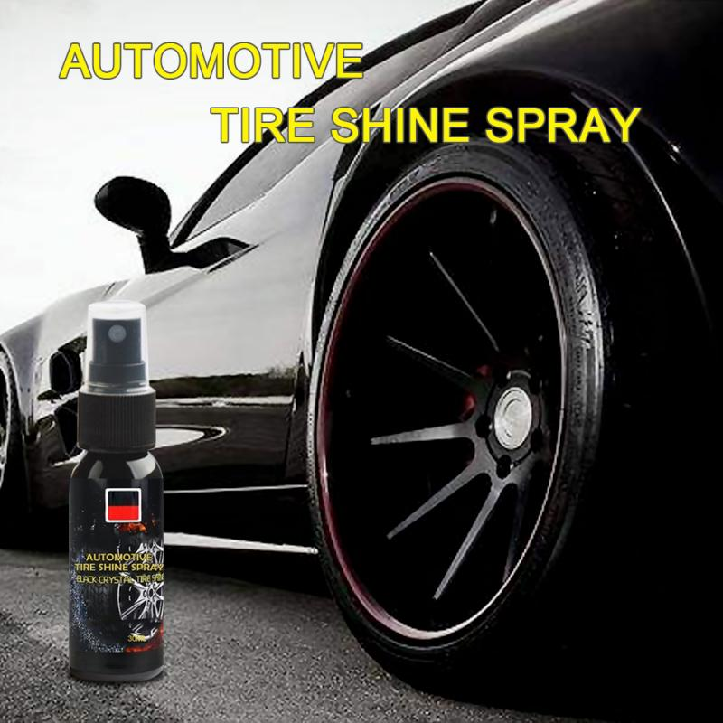 New 30ml Car Care Products Tire Shine Dressing Car Tire Wheel Cleaning Brightener Decontamination Tire Protector Tire Spray