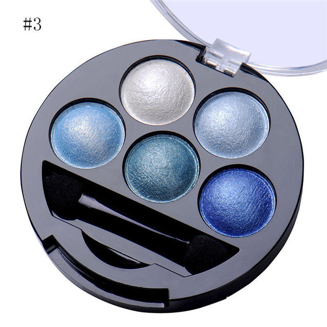 5 Colors Eyeshadow Palette Glitter Shimmer Matte Smokey Color Eye Shadow Makeup Long Lasting Easy To Wear Smooth Powder Cosmetic 5