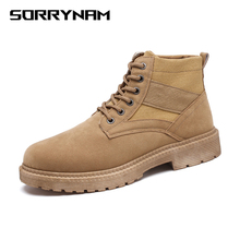 2019 Hot Working Boots For Men Black Military Comfortable Ankle Tactical Outdoor Casual Shoes