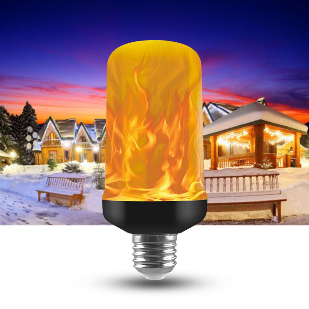 2020 E27 Led Flame Lamps Fire Effect Light Bulb 220V 110V Led Fire Bulb Effect Flickering Emulation Flame Light Lampada