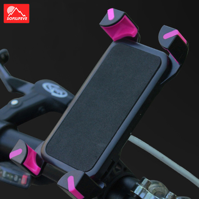 Universal Bicycle Phone Holder Bike Anti Slip Handle Bar Mount Bracket Cellphone GPS