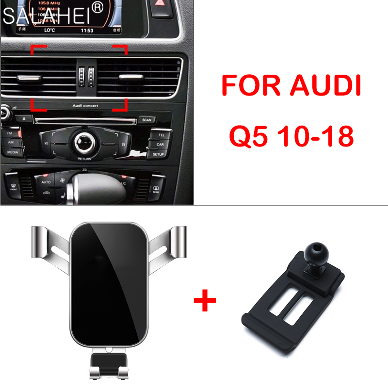 Mobile Phone Holder For Audi Q5 2017 2016 2015 2014 2013 2012 2011 2010 Dashboard Mount GPS Phone Holder Clip Clamp Stand In Car