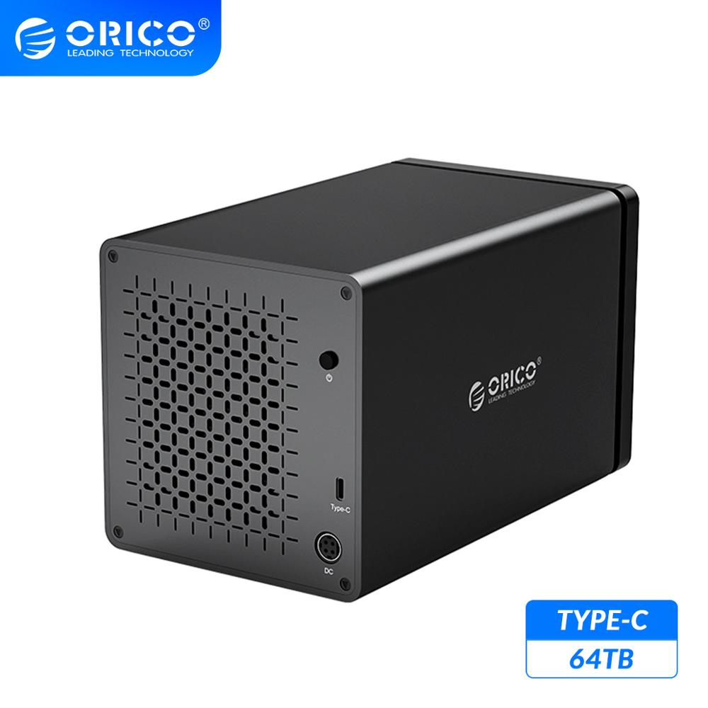 ORICO NS Series 3.5 4 Bay Type C HDD Docking Station Support 64TB USB3.1 5Gbps HDD Case UASP with 78W Adapter HDD EnclosureHDD Enclosure   -