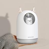 300ML Pet Ultrasonic USB Air Humidifier Timing Aroma Essential Oil Diffuser Cool Mist Maker Fogger With Light For Room Car|Humidifiers|   -