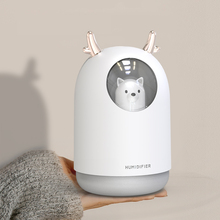 300ML Pet Ultrasonic USB Air Humidifier Timing Aroma Essential Oil Diffuser Cool Mist Maker Fogger With Light For Room Car цена и фото