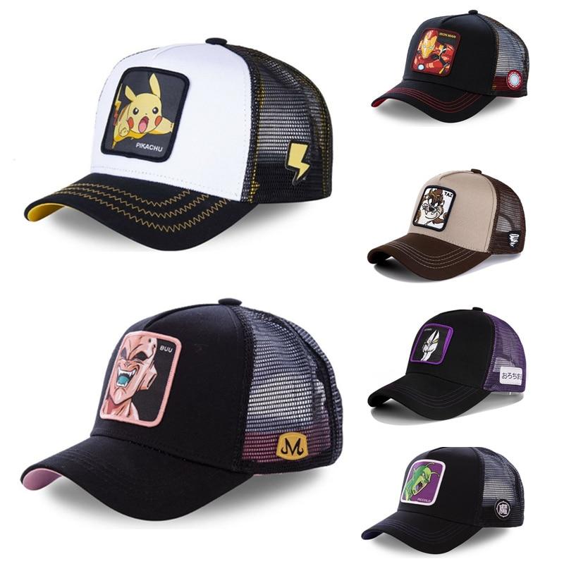 Nova marca de alta qualidade anime dragon ball snapback boné algodão boné de beisebol das mulheres dos homens hip hop pai malha chapéu camionista dropshipping