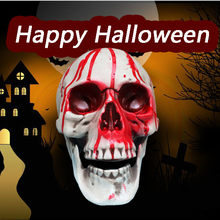 Human Head Replica Resin Divided 3D Skull Mould for Halloweeen Decoration DIY Party Haunted Halloween Skull House Supplies(China)