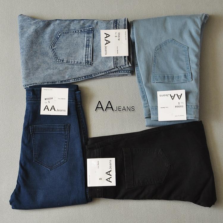 2019 őszi új stílusú női márkás designer magas derékú vékony alkalmi hosszú farmer Femme farmer nadrág Stretch vékony ceruza nadrág