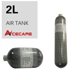 Acecare 2L Mini Scuba Tank, Пейнтбольный бак Hpa, цилиндрический баллон из углеродного волокна 4500Psi Pcp Air Rifle/Air Condor для дайвинга/охоты, Airgun