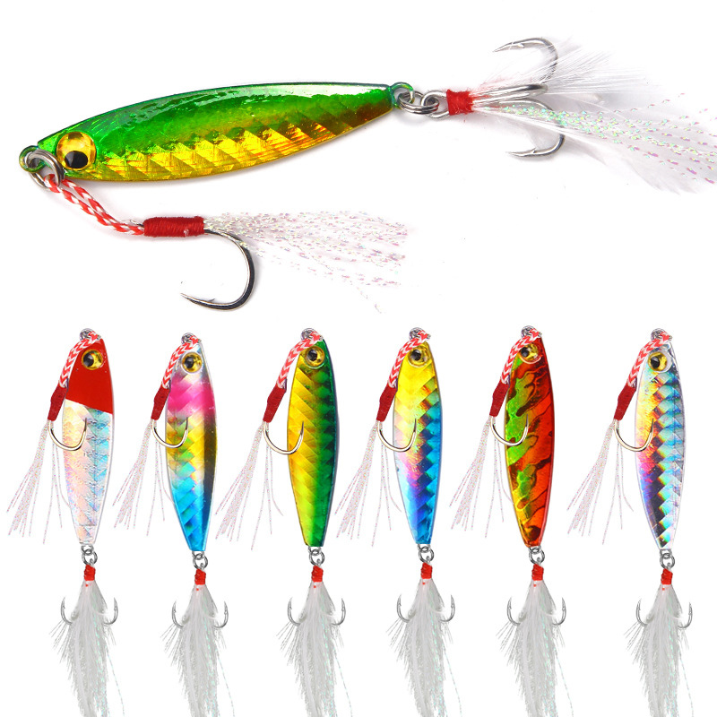New 1pcs Iron Metal Sequins Lures 7/10/15/20g Sea Fishing Metal Plate Lead Jig Bait Slow Sinking Lure Saltwater Boat Fishing