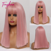 TINY LANA Synthetic Medium-length Straight Wigs with Bangs L