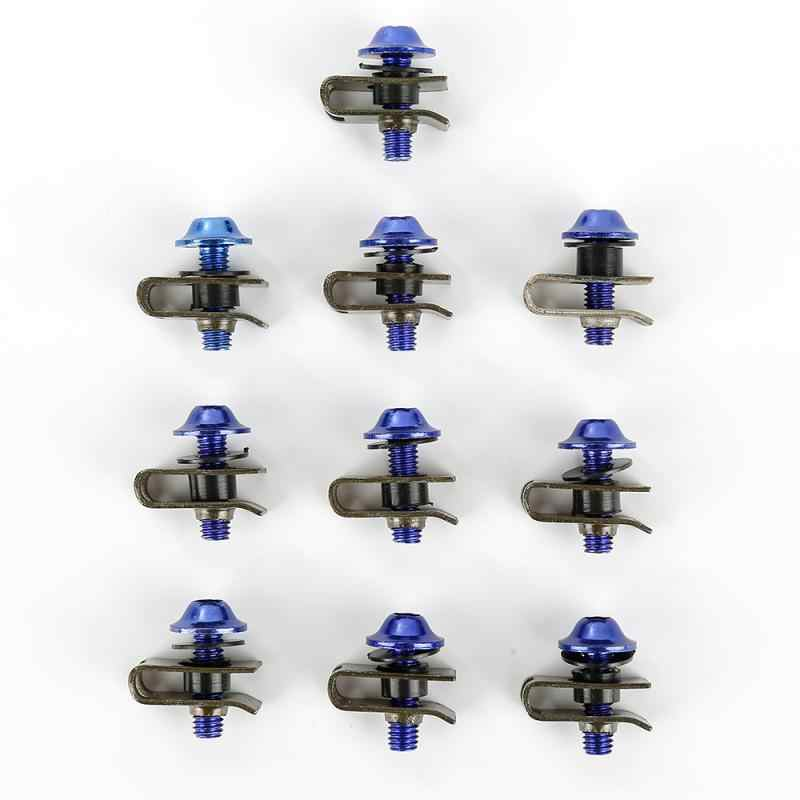 10Pcs 5*16mm Motorcycle Multi-Color M5 Fairing Bolts Spire Speed Fastener Clips Screws Metal Nuts & Bolts Moto Accessories