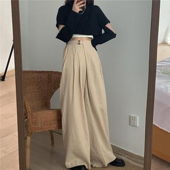 2 Piece Sets Womens Outfits Spring Blouse Women Shirt Long Sleeve High Waist Pants Wide Leg Womens Trousers Two Piece Set Office 1